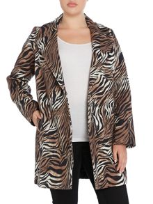 Nobel tiger printed wool coat