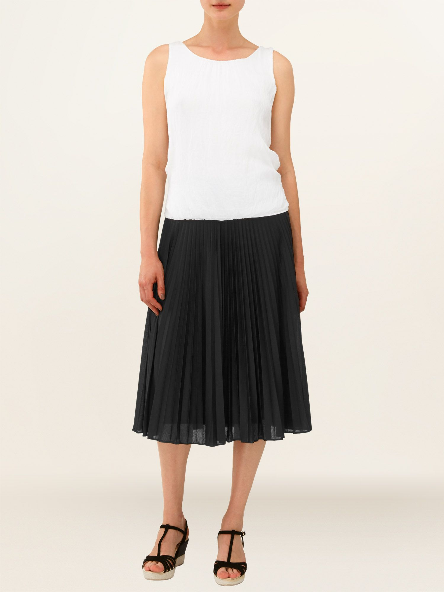 Joss pleated midi skirt