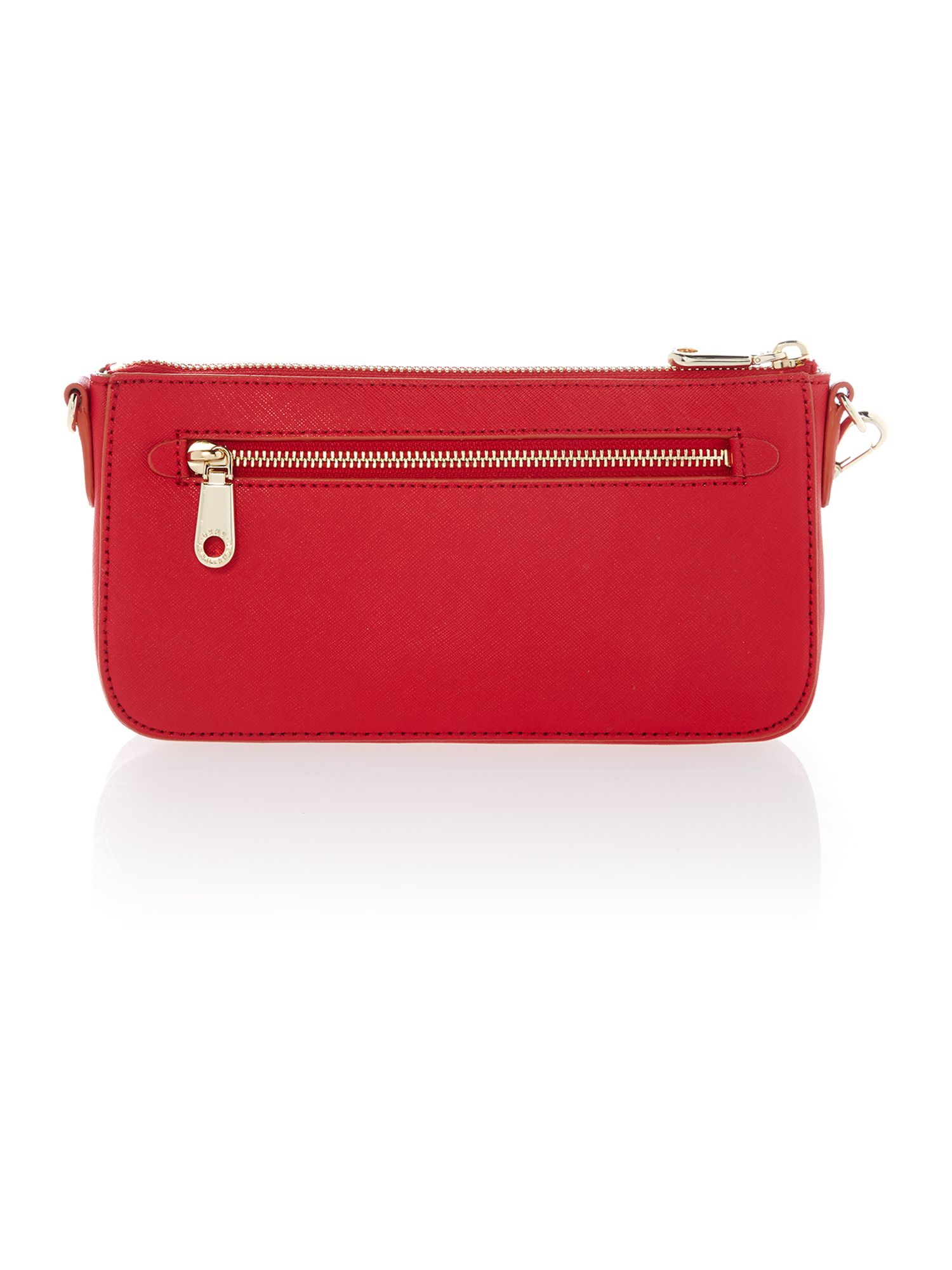 Saffiano red small chain cross body bag