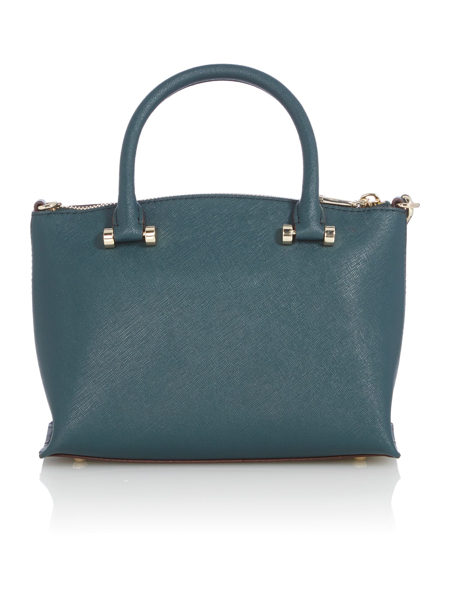 Saffiano green mini tote bag