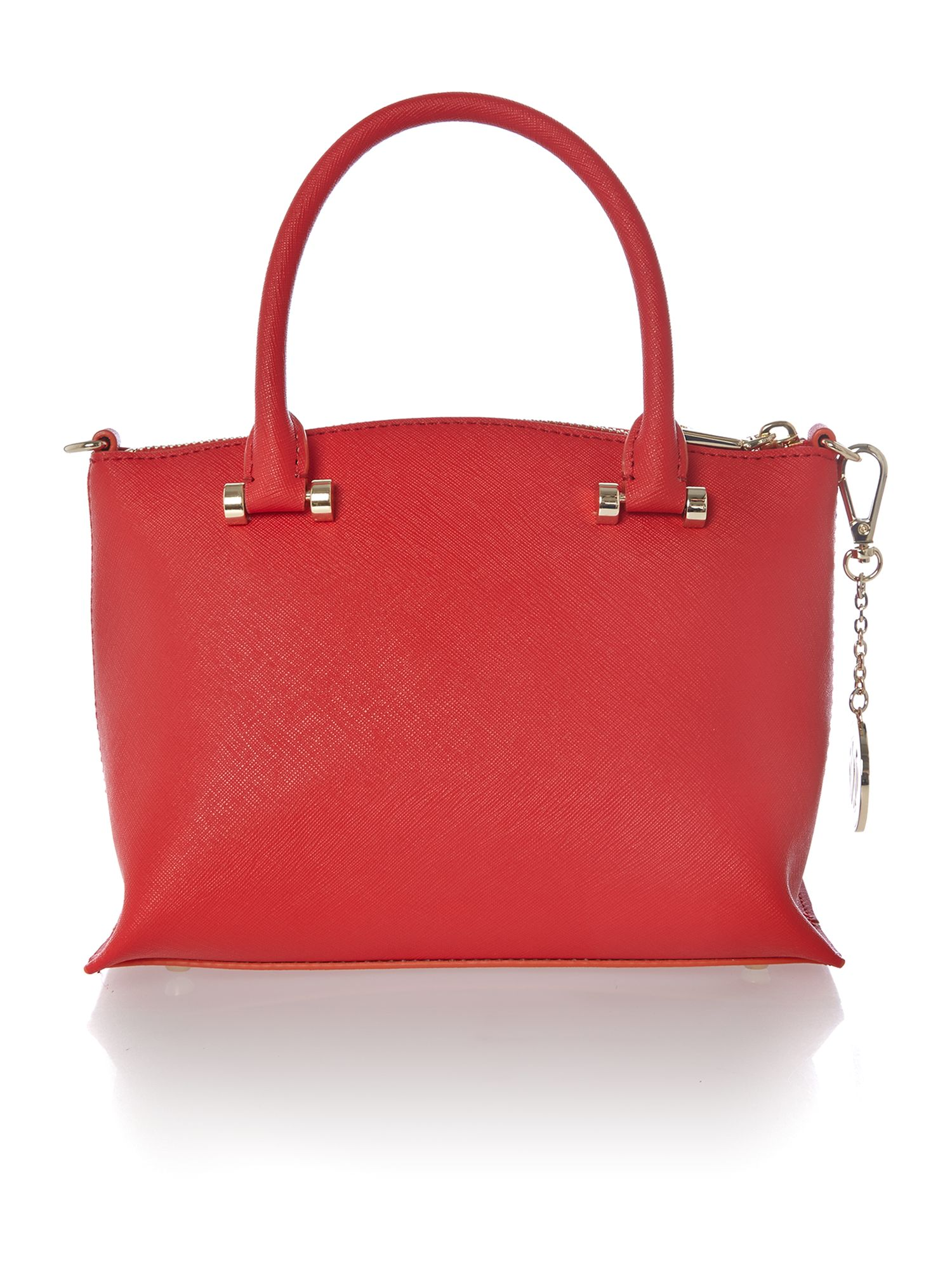 Saffiano red mini tote bag
