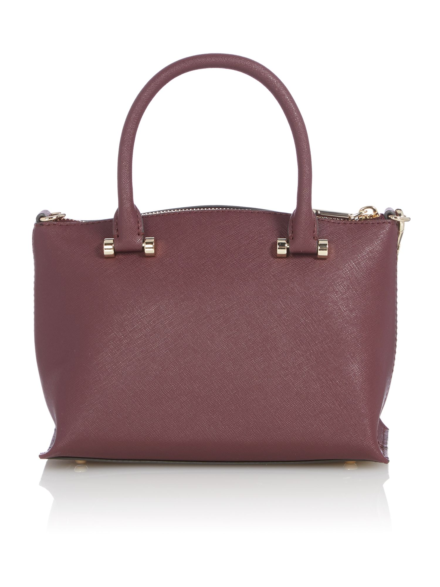 Saffiano purple mini tote bag
