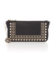 Saffiano black small cross body bag