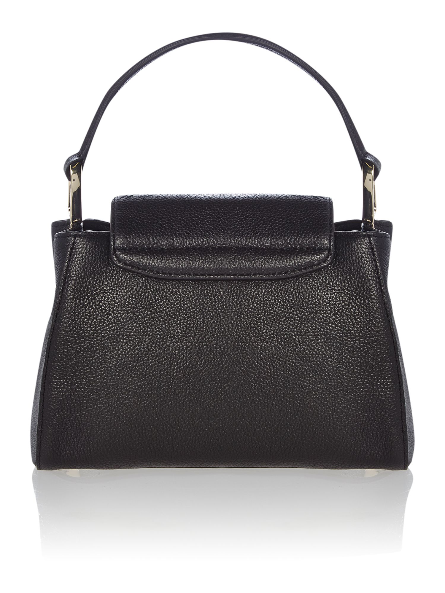 Chelsea black top handle cross body bag