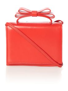 Red mini cross body bag