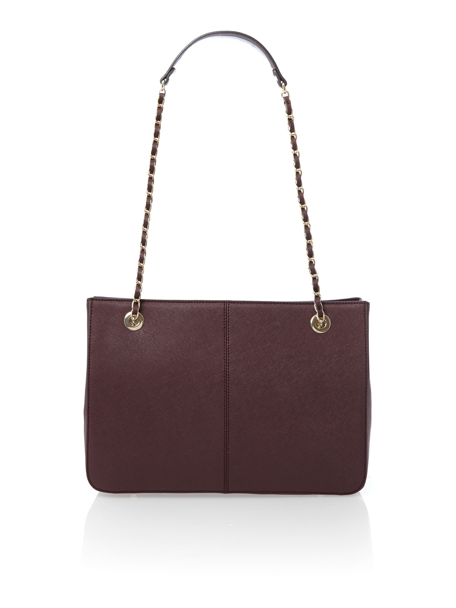 Saffiano purple medium chain tote bag