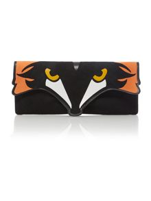 Black fox cross body bag