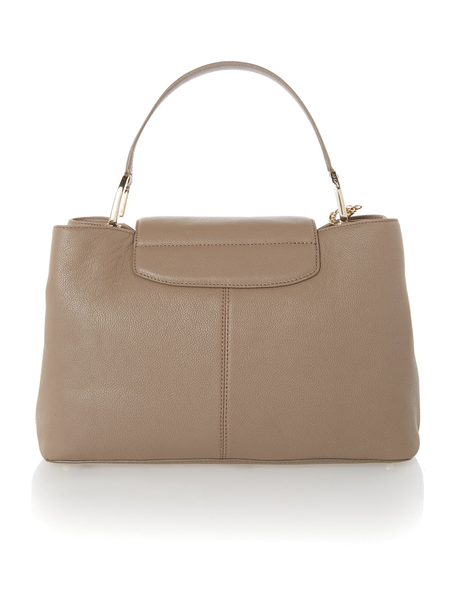 Chelsea brown large tote bag with chain detail