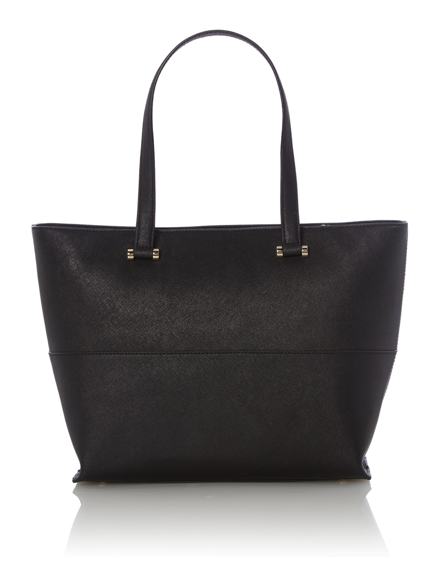 Saffiano black tote bag with pocket