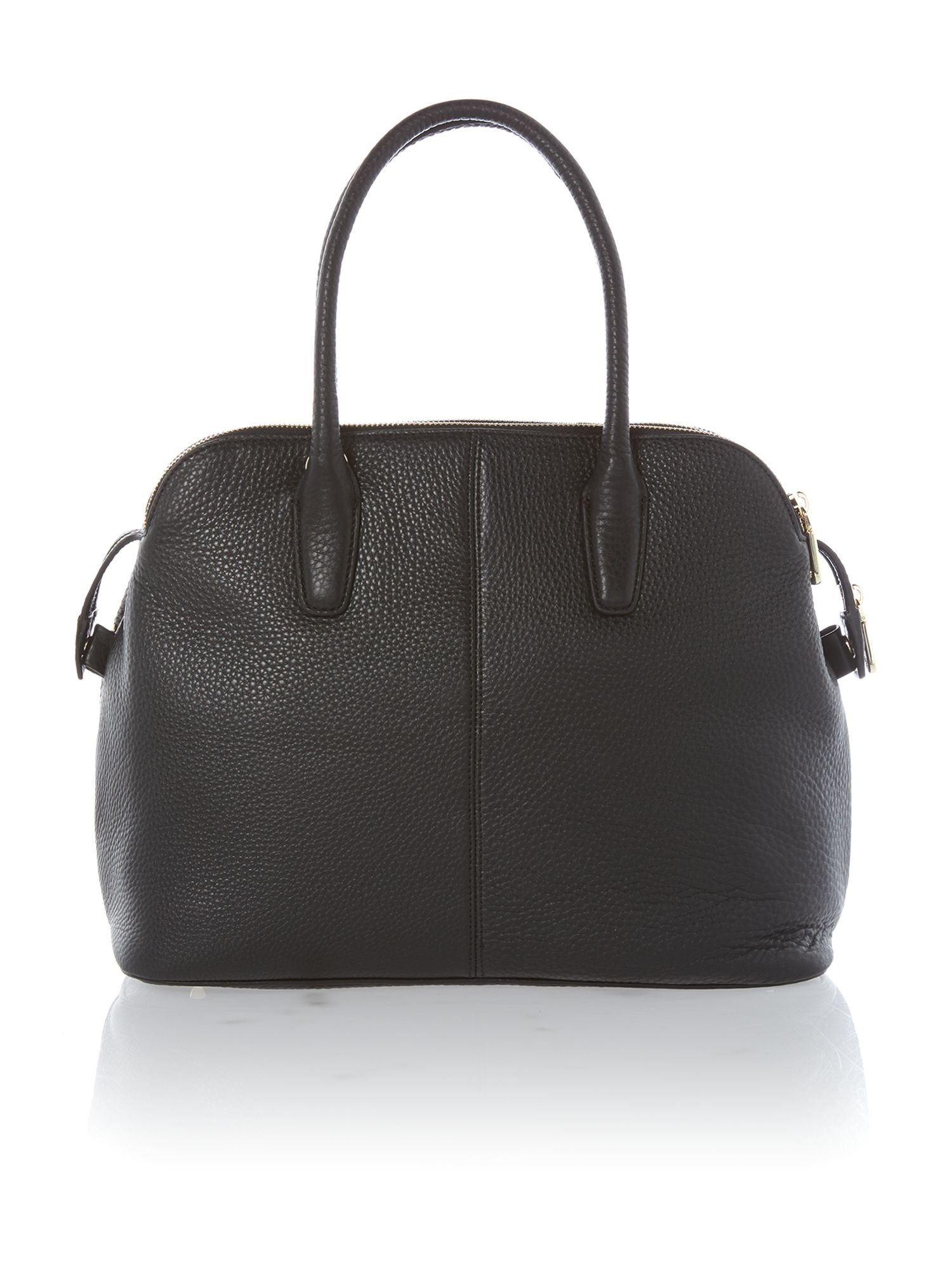 Tribeca black triple zip satchel bag