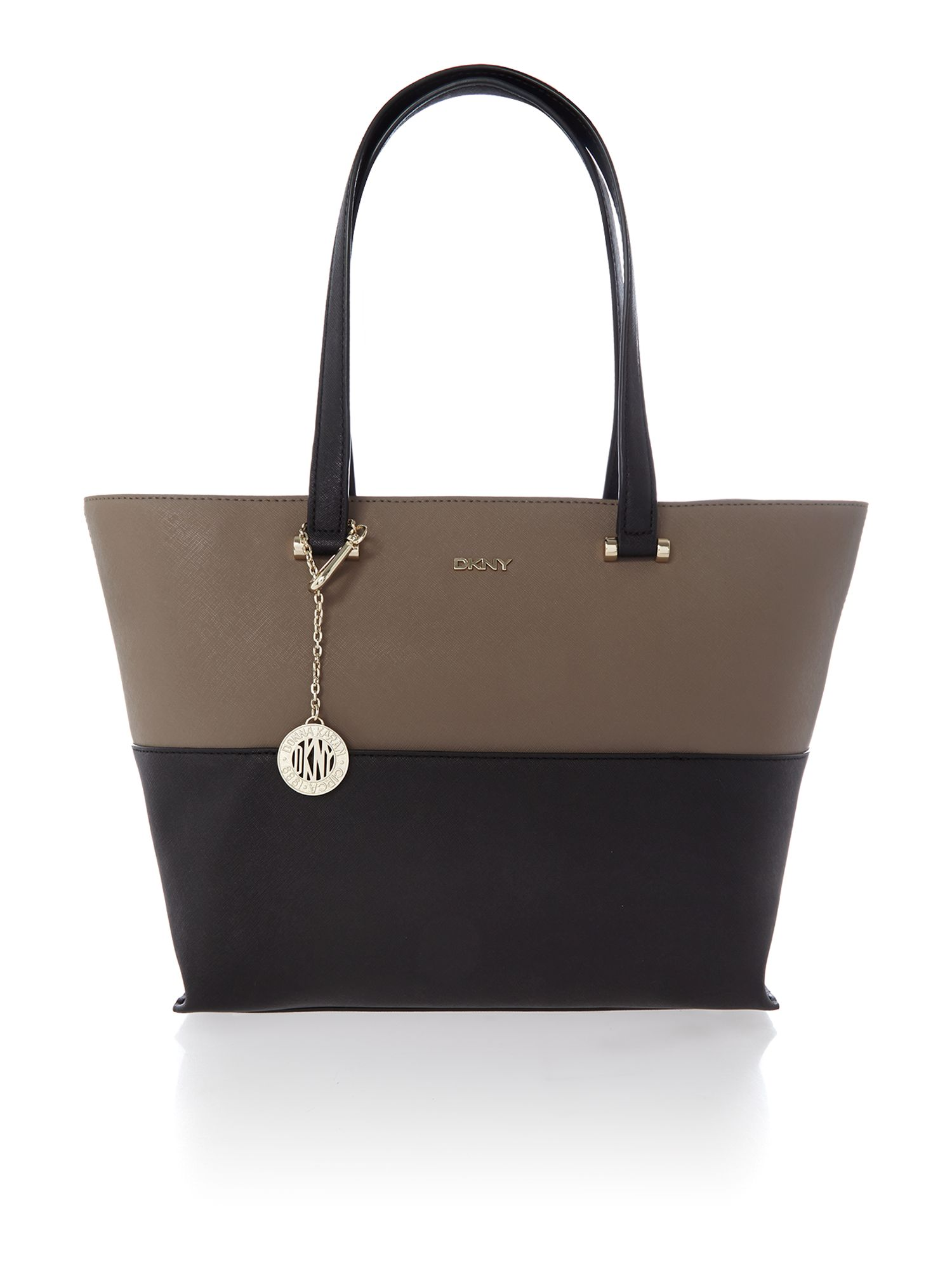 Saffiano multi-coloured tote bag with pocket