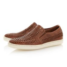 Bradley woven cup sole casual shoes