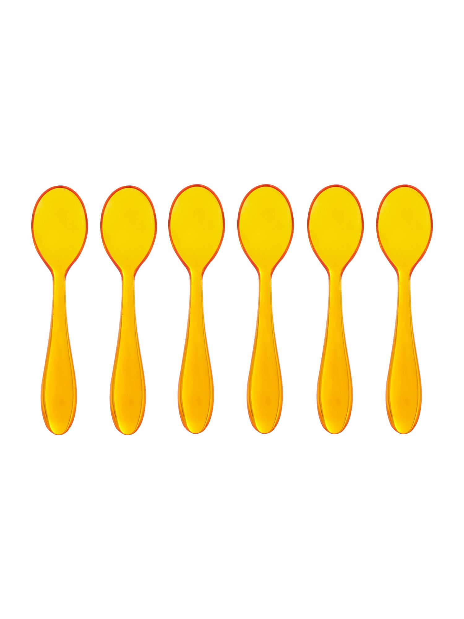 Set of 6  teaspoons cm12 feeling orange