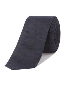 Textured stripe extra slim tie