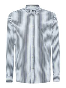 cortland oxford stripe long sleeve shirt