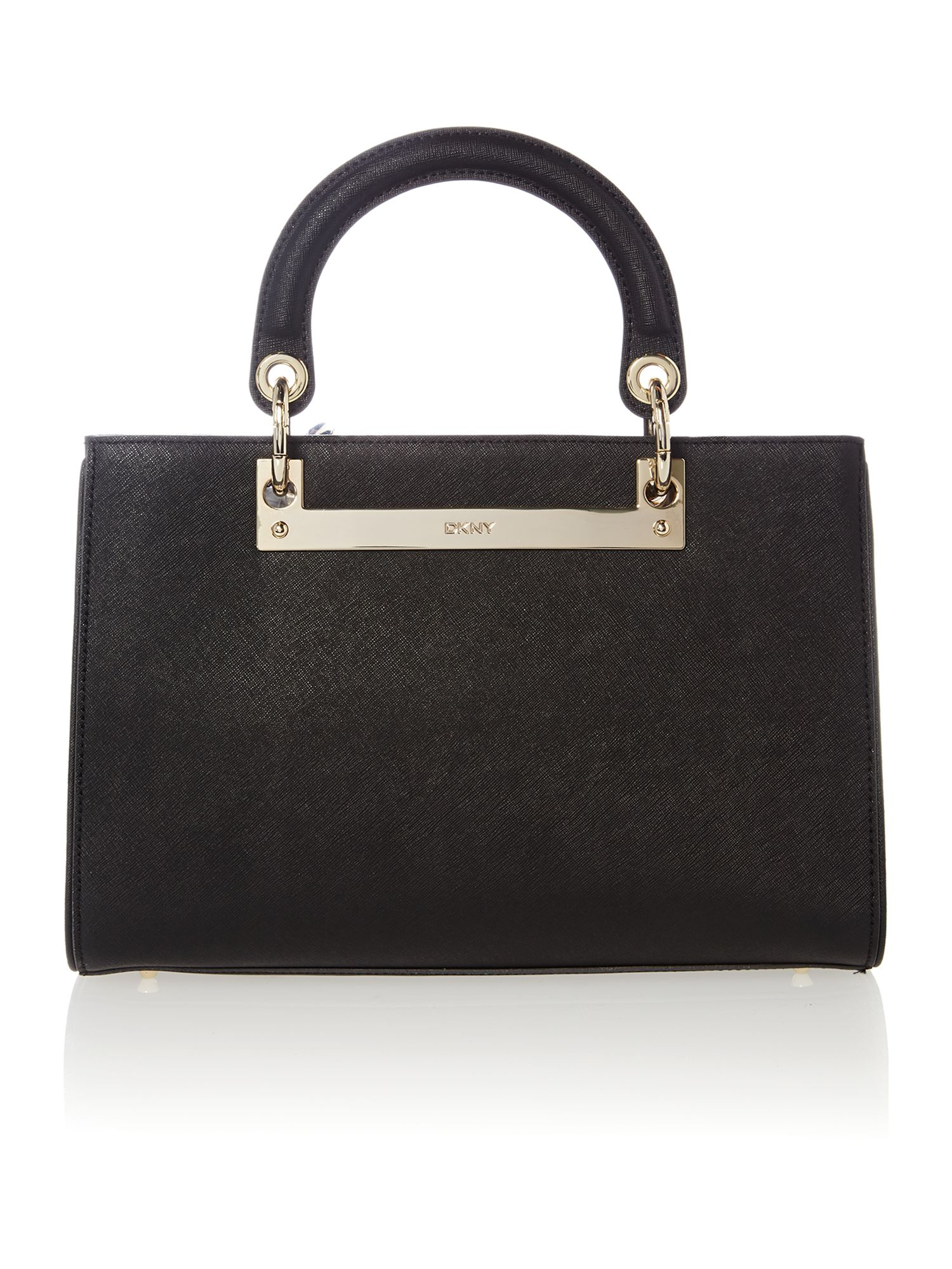 Soft saffiano black medium tote bag