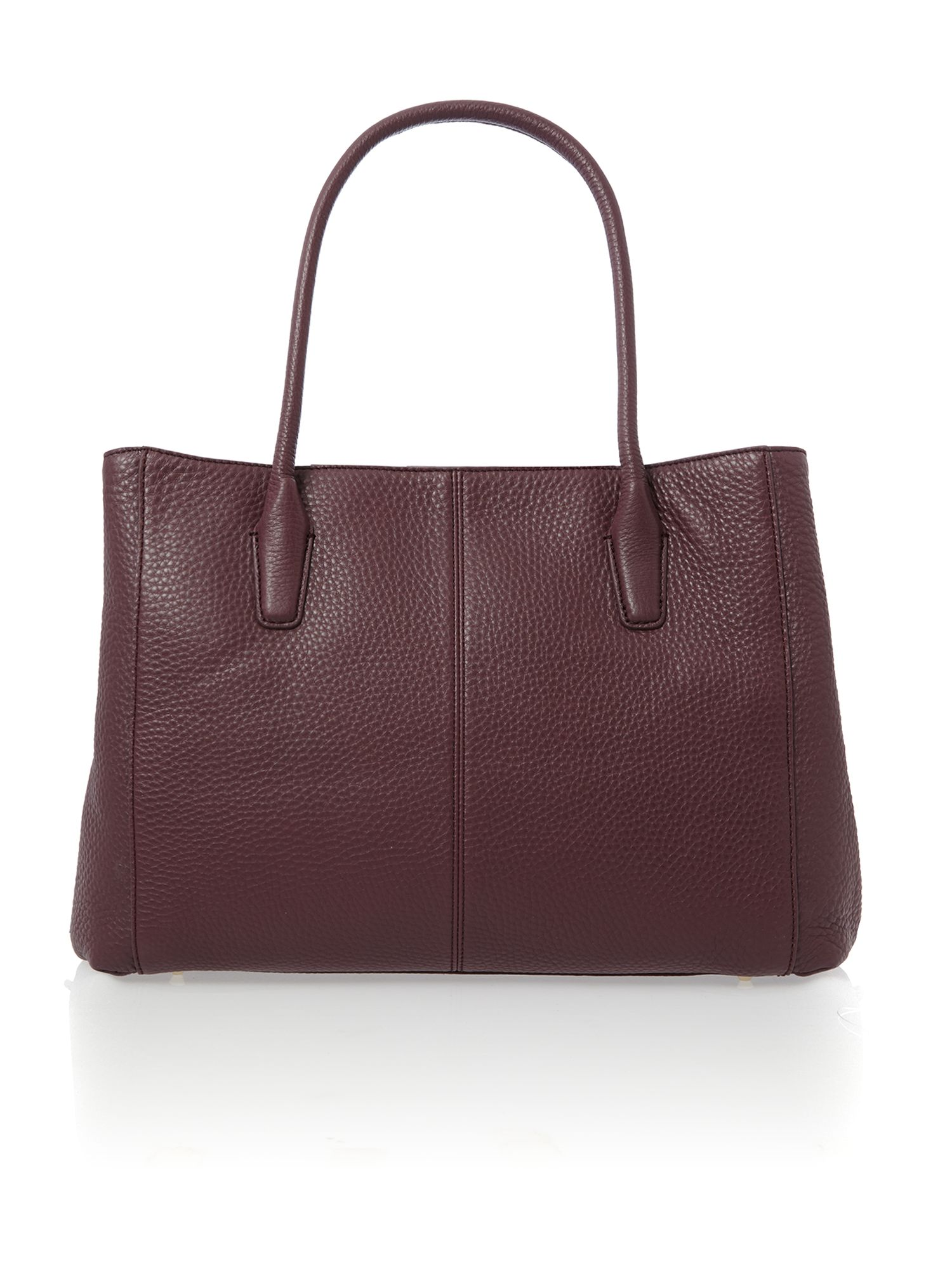 Tribeca purple triple compartment chain tote bag