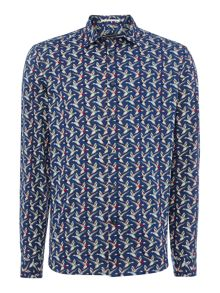 mallard print long sleeve shirt