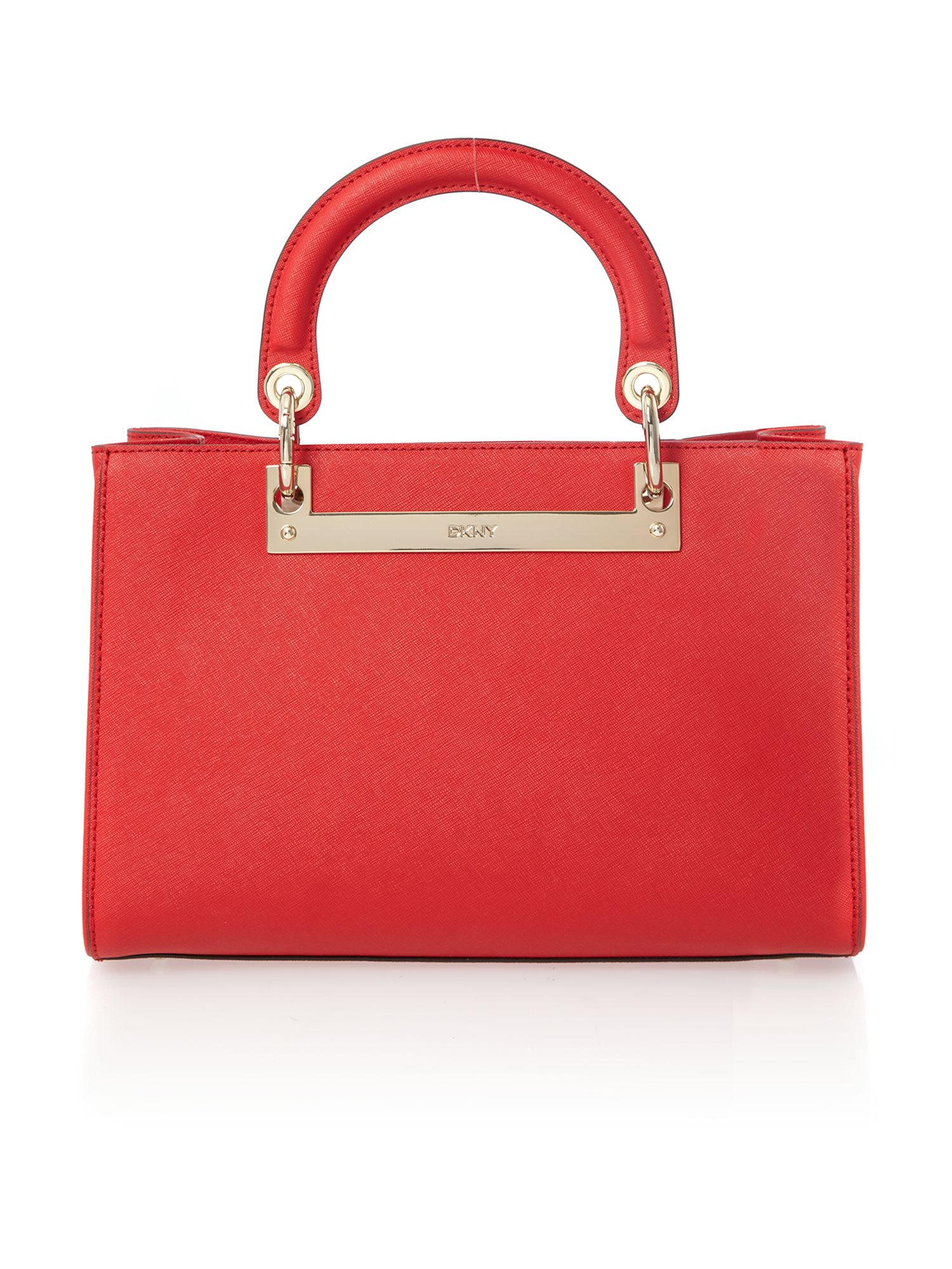 Soft saffiano red medium tote bag