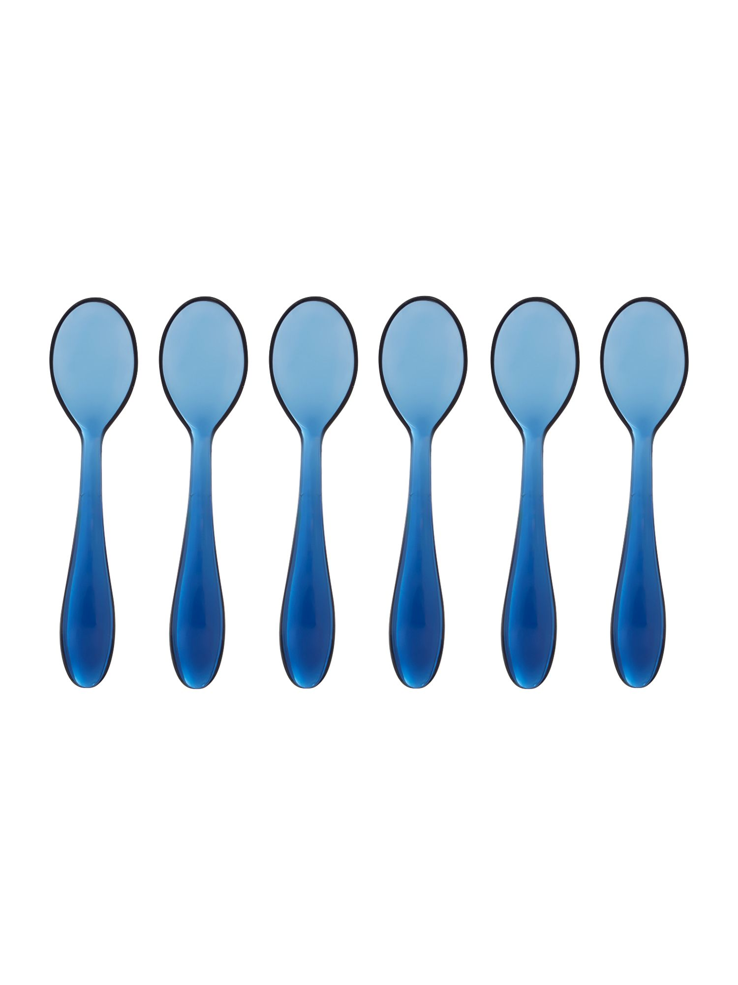 Set of 6  teaspoons cm12 feeling blue