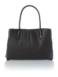 Tribeca black triple compartment chain tote bag
