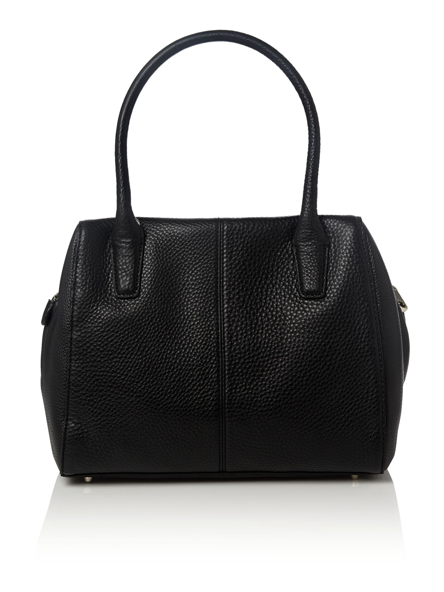 Tribeca black top zip satchel bag