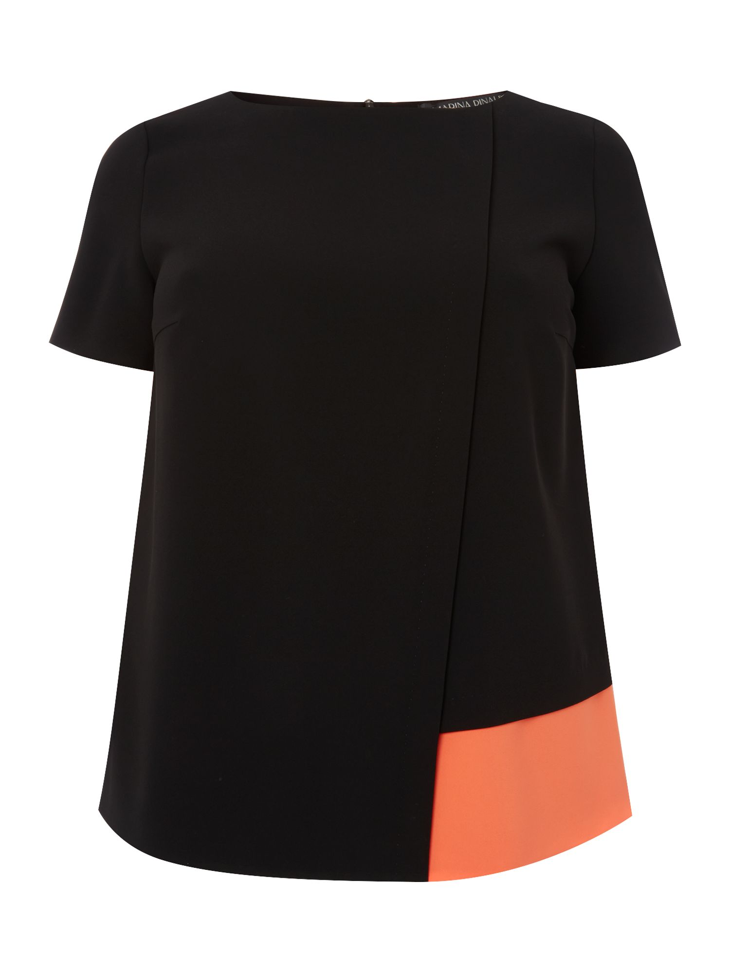 Fantasia short sleeved colour block t-shirt