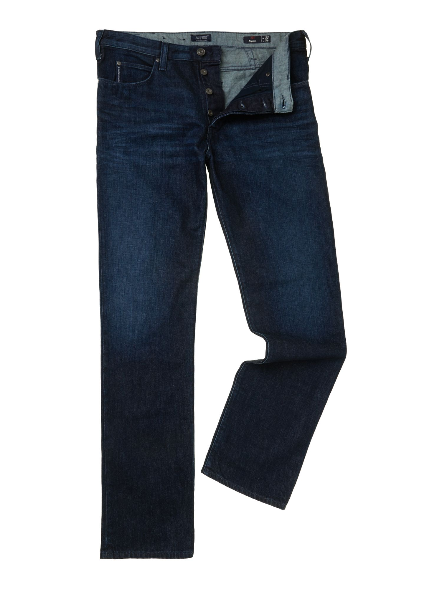 J21 regular fit blue wash jeans