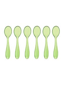 Set of 6  teaspoons cm12 feeling green