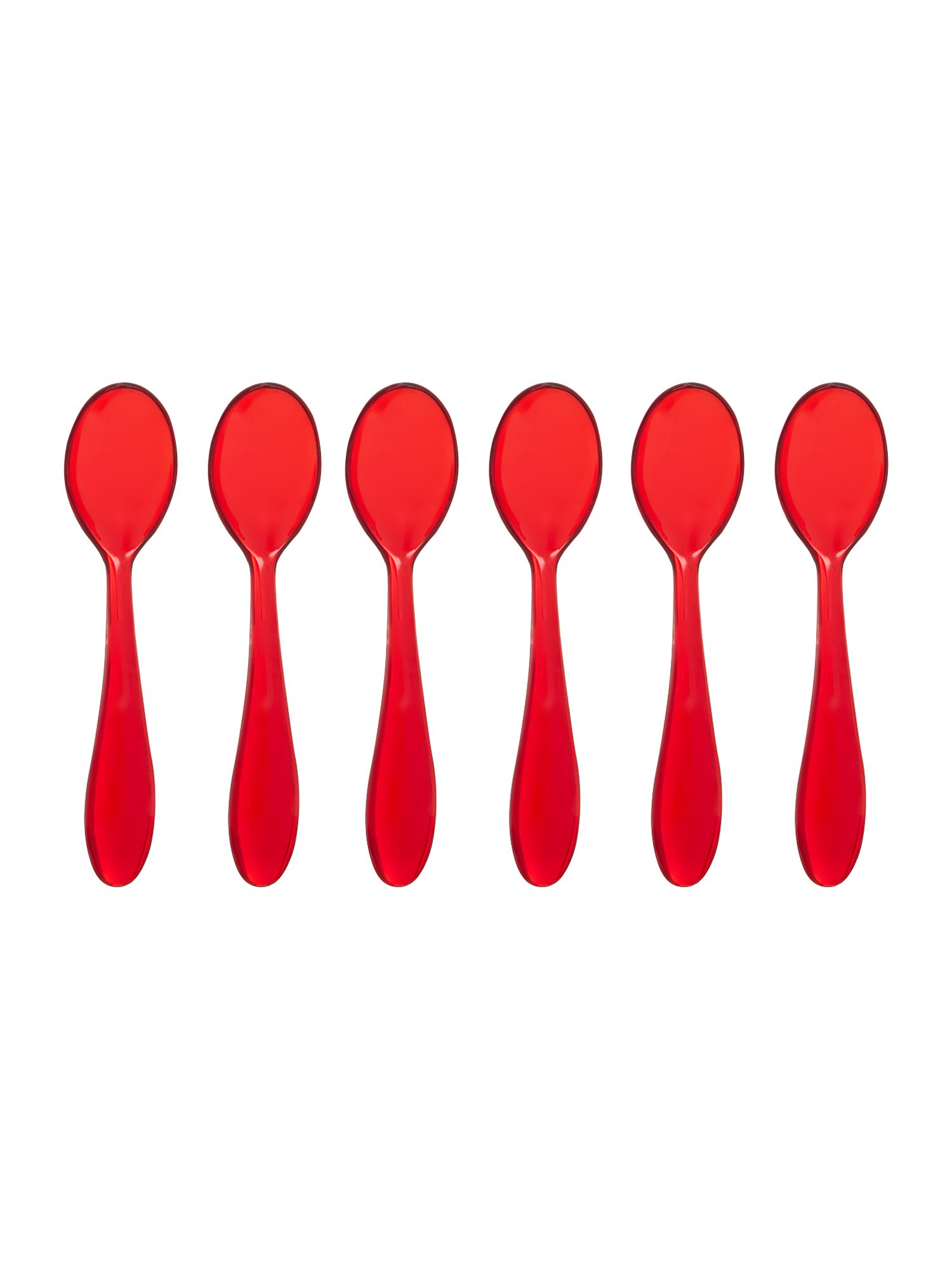 Set of 6  teaspoons cm12 feeling red