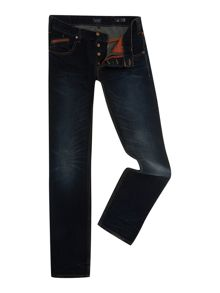 J23 slim leg leather detail jeans
