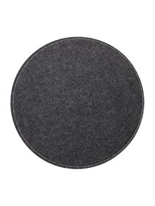 Grey felt reversible placemat set of 4