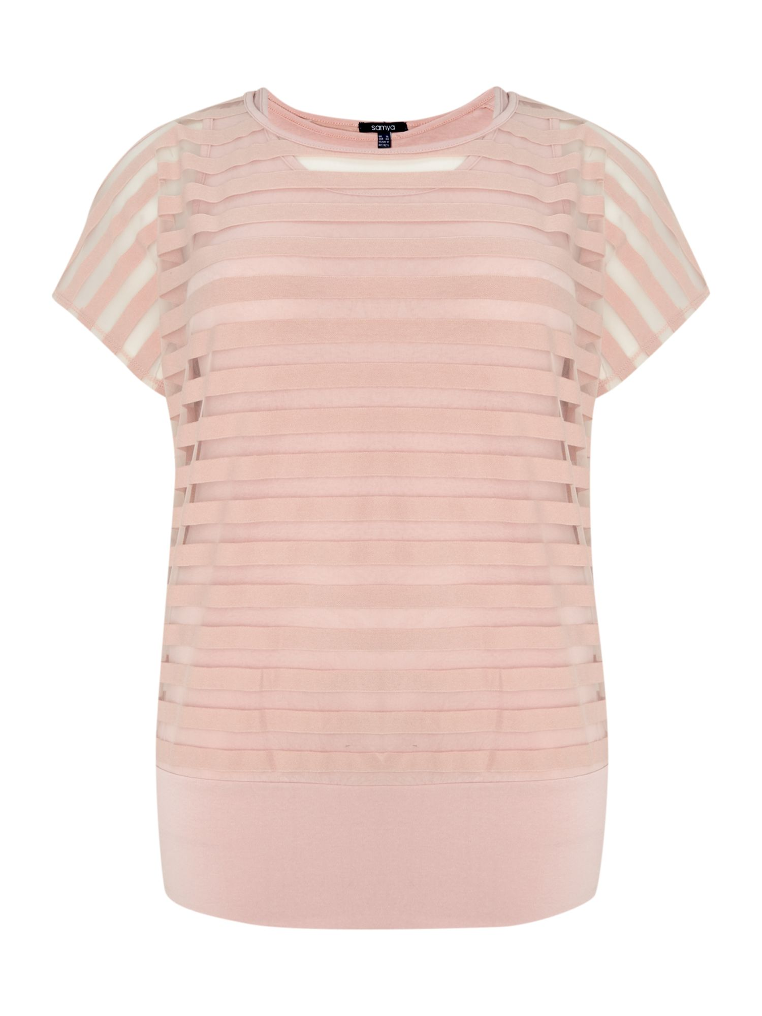 Striped sheer detail top