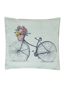 Bicycle duck egg cushion