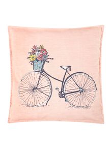 Bicycle pink cushion