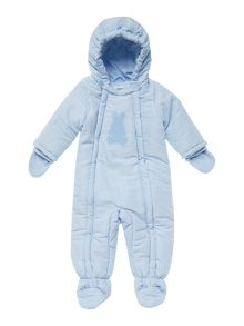 Baby boy padded snowsuit