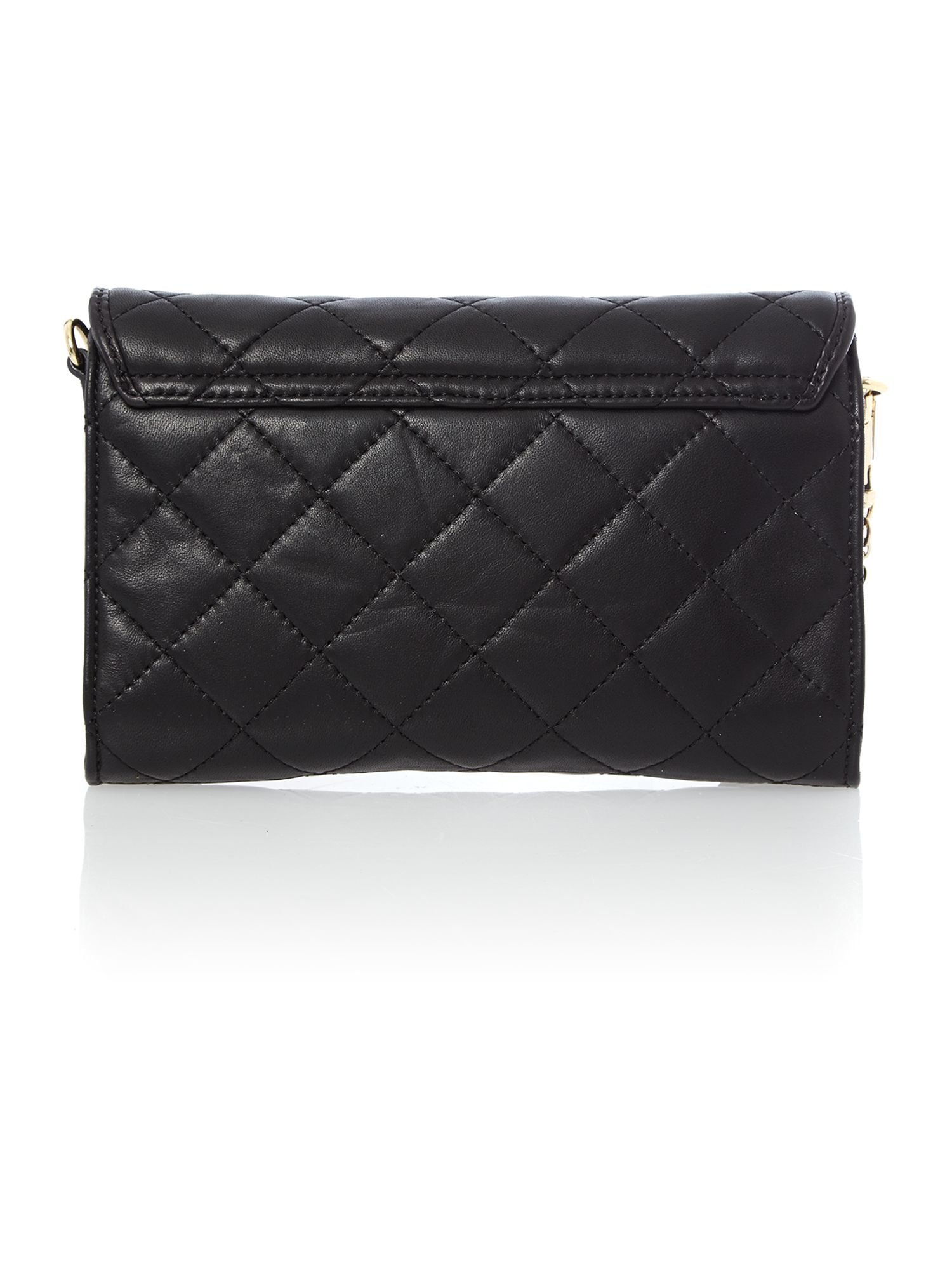 Gansevoort black small flap over cross body bag