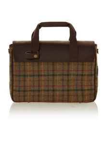 Moon tweed briefcase