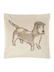 Bernie the dog printed cushion