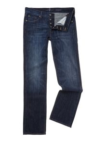 7 For All Mankind Standard New York Straight Leg Dark Wash Jeans