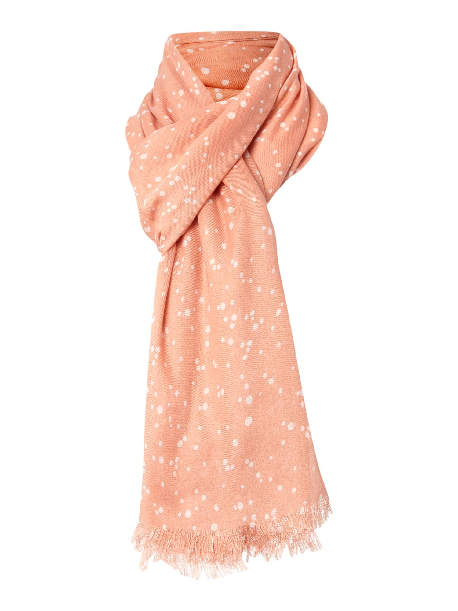 Speckle print scarf
