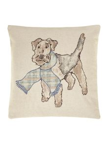 Ned the dog printed cushion