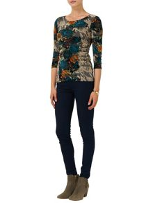 Zita flocked top