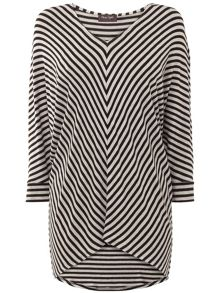 Phase Eight Mildred chevron stripe top