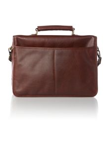 Leather chocolate briefcase