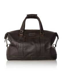 Leather chocolate holdall