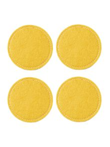 Citrine felt reversible placemat S/4