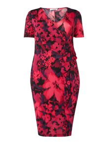 Persona Plus Size Ombretta floral print dress