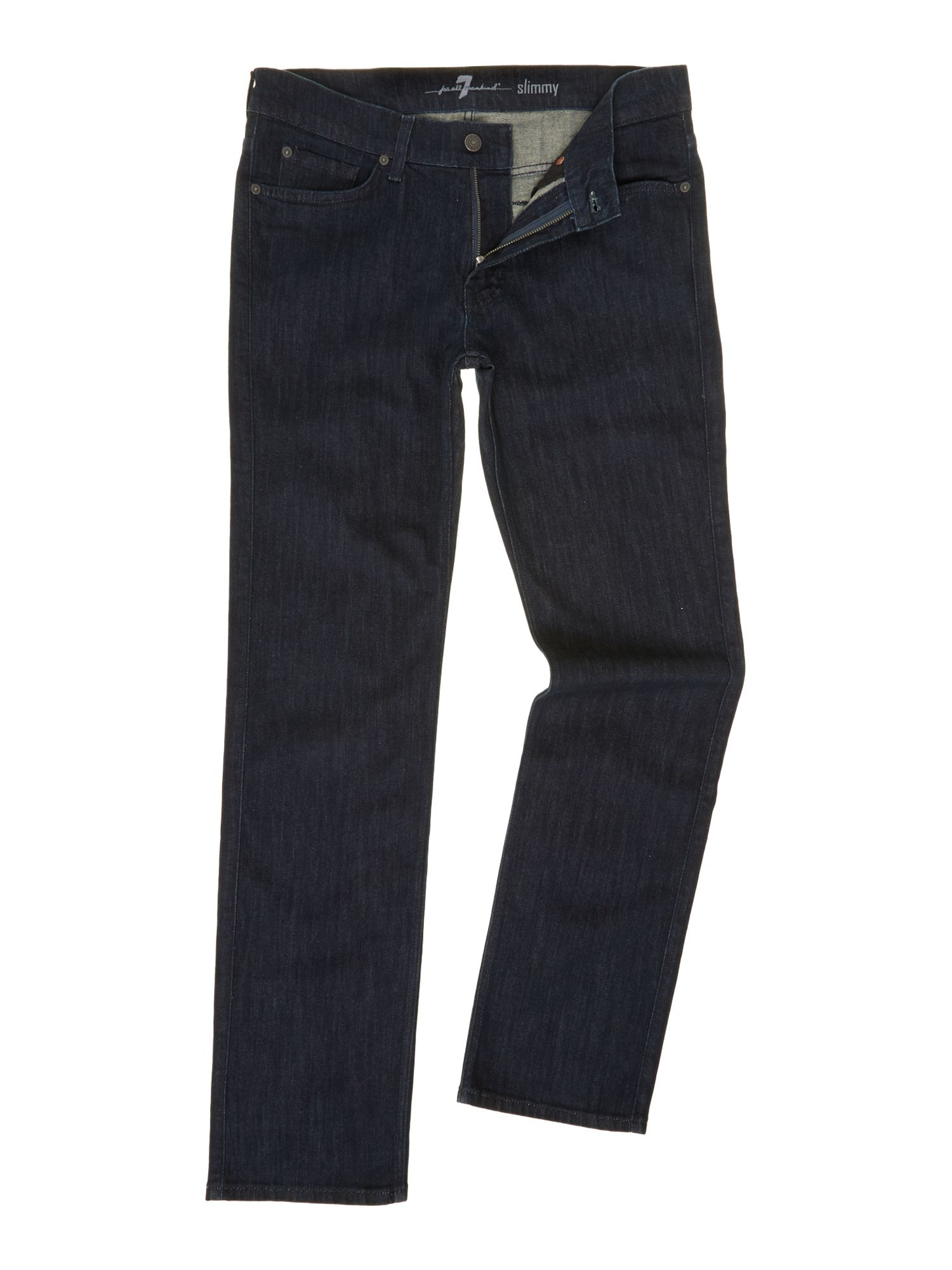 Slimmy luxe perf dark wash jean