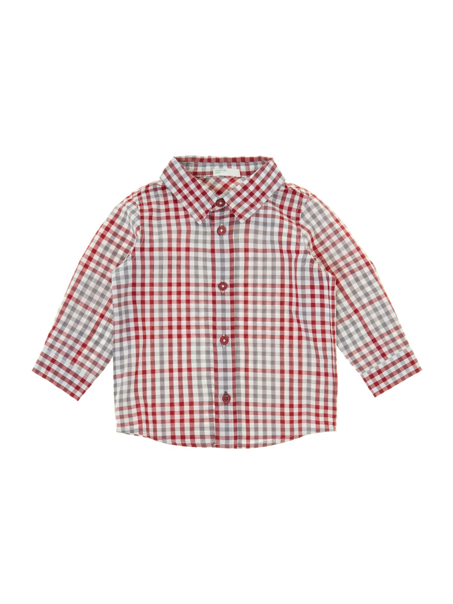 Baby boy lightweight gingham check shirt